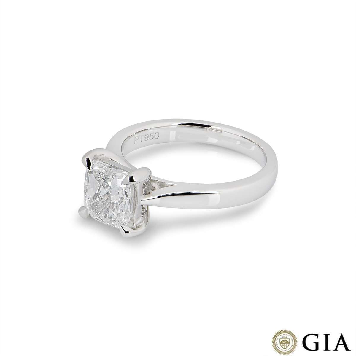 Platinum Cushion Cut Diamond Ring 2.00ct F/VS2